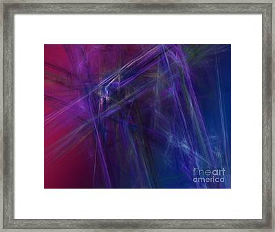 Fractal Abstract Framed Print by Amanda Collins