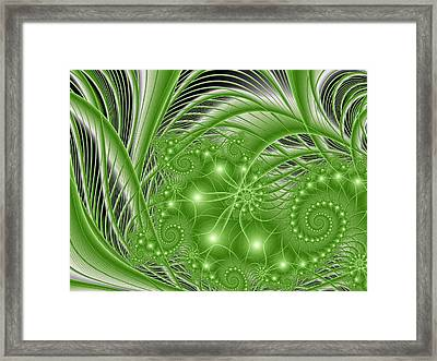 Fractal Abstract Green Nature Framed Print