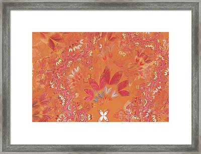 Fractal - Abstract - Japanese Motif Framed Print by Mike Savad