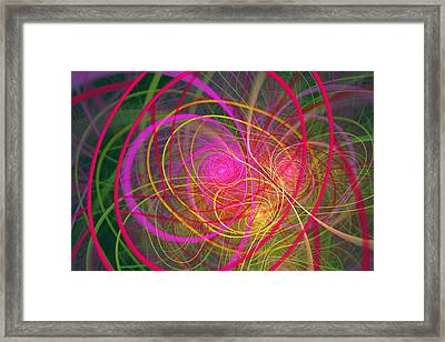 Fractal - Abstract - Loopy Doopy Framed Print by Mike Savad