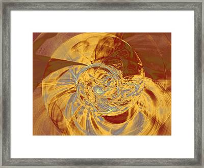 Fractal Ammonite Framed Print
