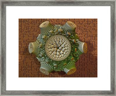 Fractal Artifact Framed Print by Manny Lorenzo