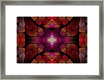 Fractal - Aztec - The All Seeing Eye Framed Print by Mike Savad