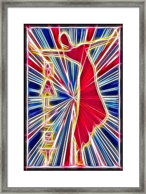 Fractal Ballet Framed Print by David G Paul