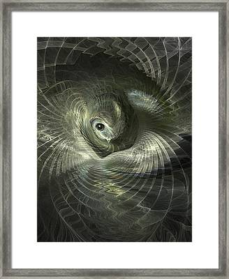 Fractal Bird In Its Nest Framed Print