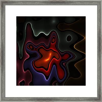 Fractal Birth Framed Print by Steve K