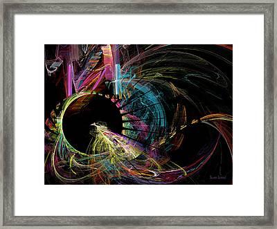 Fractal - Black Hole Framed Print by Susan Savad