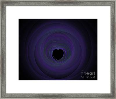 Framed Print featuring the digital art Fractal Blue by Henrik Lehnerer