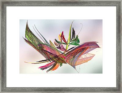 Fractal Butterfly Framed Print by Camille Lopez