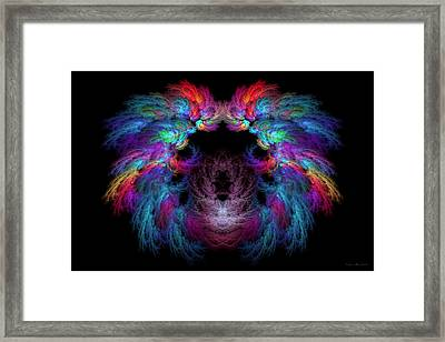 Fractal - Christ - Angels Wings Framed Print by Mike Savad