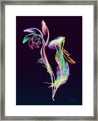 Fractal - Cockatoo Framed Print by Susan Savad