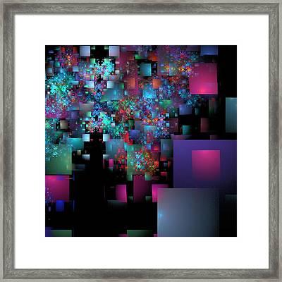 Fractal Confetti Framed Print by Richard Ortolano