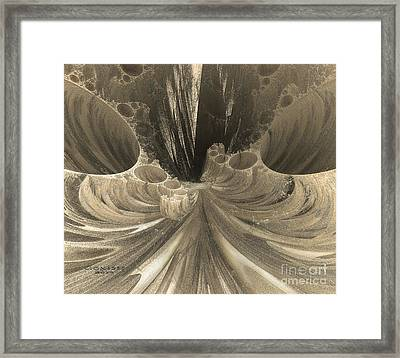 Fractal Crater Framed Print by Melissa Messick