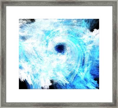 Fractal Cyclone Framed Print
