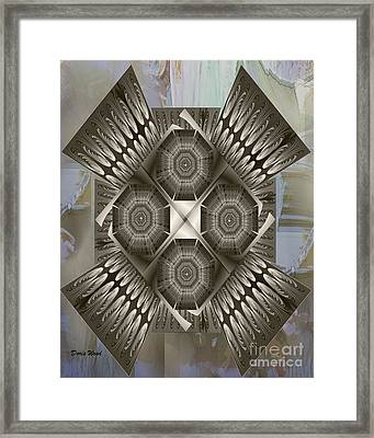 Fractal Design Number Nine Framed Print by Doris Wood