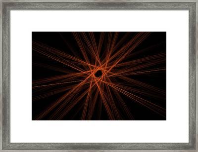 Fractal Digital Abstract Red Image Black Modern Art Framed Print by Keith Webber Jr