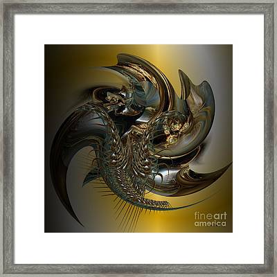 Fractal Display Framed Print by Doris Wood