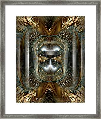 Fractal Display Number Eight Framed Print by Doris Wood