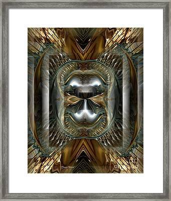Fractal Display Number Eight Framed Print by Doris Wood