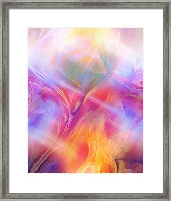 Fractal Dream Framed Print by Ann Croon