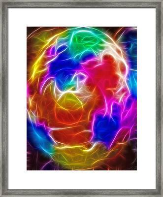 Fractal Egg Framed Print by Steve Ohlsen