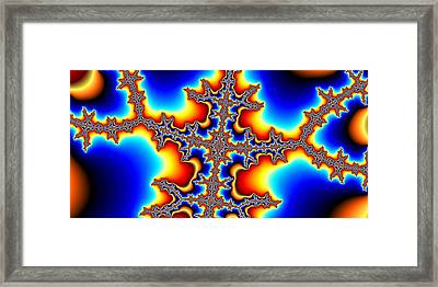 Fractal Electric Framed Print