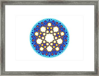 Fractal Escher Winter Mandala 3 Framed Print