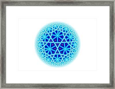 Fractal Escheresque Winter Mandala 4 Framed Print
