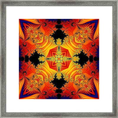 Fractal Flames No 1 Framed Print by Charmaine Zoe
