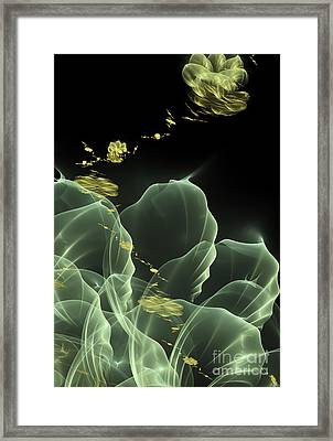 Fractal Flower Framed Print by Arlene Sundby