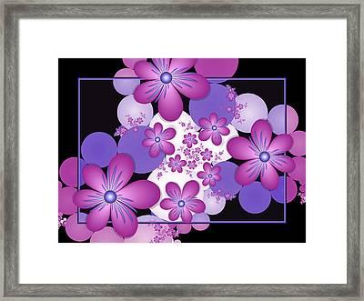 Fractal Flowers Modern Art Framed Print by Gabiw Art