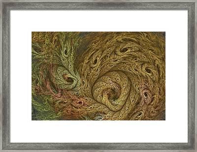 Fractal Forest Denizens Framed Print