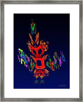 Fractal - Gombay Dancer Framed Print by Susan Savad