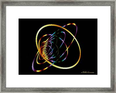 Fractal Hoops Framed Print by Mikki Cucuzzo