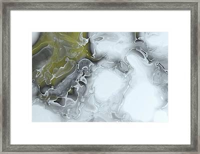 Fractal Ice Framed Print