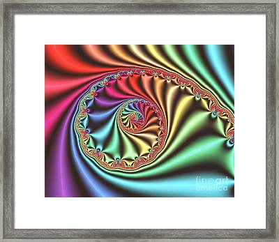 Fractal Image Of The Julia Set Framed Print
