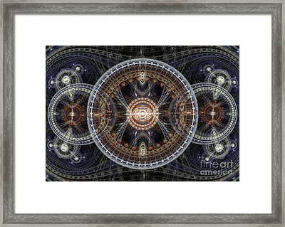 Fractal Inception Framed Print by Martin Capek