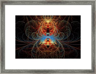 Fractal - Insect - Black Widow Framed Print by Mike Savad