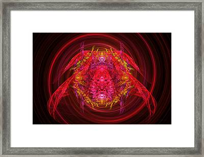 Fractal - Insect - Jeweled Scarab Framed Print by Mike Savad