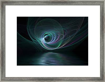 Fractal Lake Framed Print