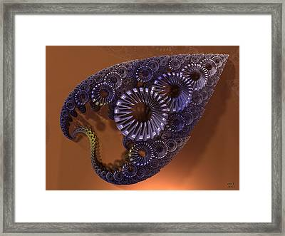 Fractal Leaf Jewel Framed Print