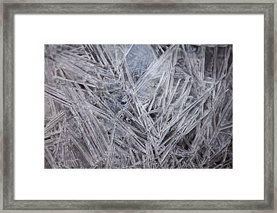 Frozen Fractal Framed Print