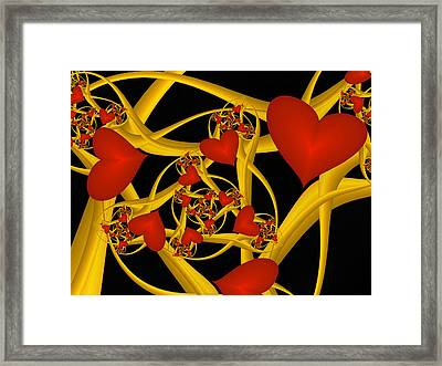 Fractal Love Ist Gold Framed Print