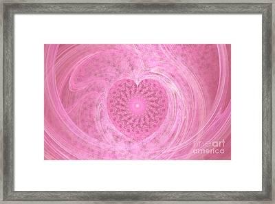 Fractal Love Framed Print by Peggy Hughes