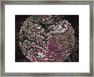 Framed Print featuring the digital art Fractal Moon by Susan Maxwell Schmidt