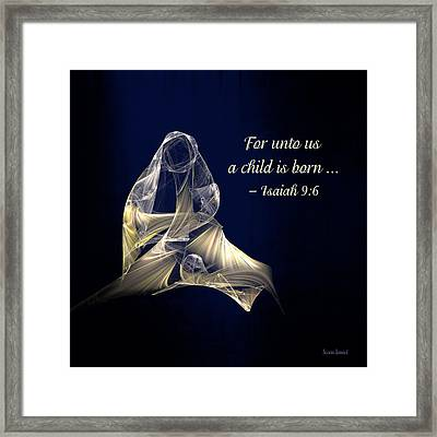 Holy Mother And Child Abstract Framed Print by Susan Savad