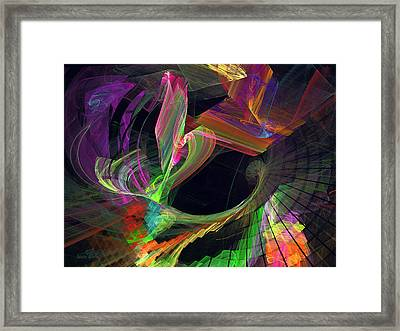 Fractal - Owl Swooping Framed Print by Susan Savad