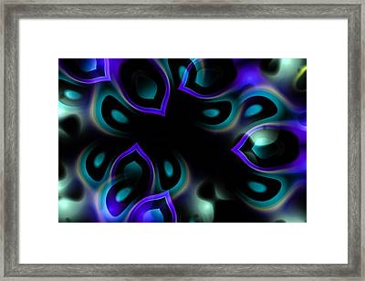 Fractal Peacock Feathers Framed Print
