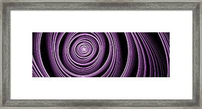 Fractal Purple Swirl Framed Print
