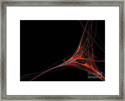 Framed Print featuring the photograph Fractal Red by Henrik Lehnerer